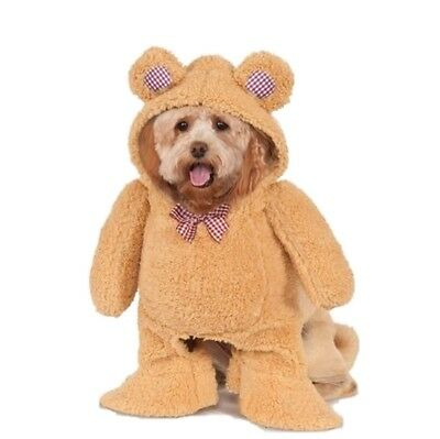 Walking Teddy Bear Pet Costume - 5 Sizes - Cute Funny Dog Halloween Costumes fnt