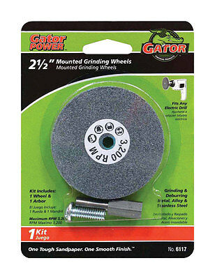 "ALI MOUNTED GRINDING WHEEL  for METAL STEEL1/4"" arbor Fits  drill 2 1/2  inch"
