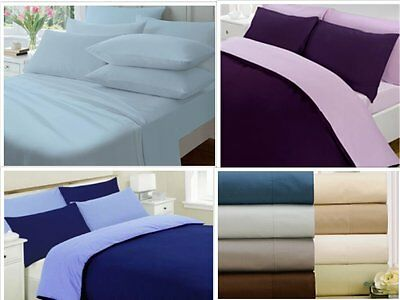 Percale 100% cotton 200tc Duvet sets. Multi colours in Single/double/King