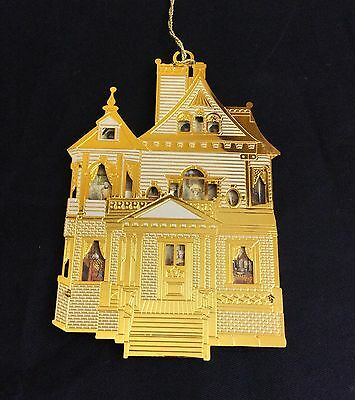 Bing & Grondahl The First Victorian Doll House Ornament 24K Gold Finish Brass