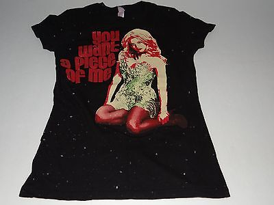 BRITNEY SPEARS You Want A Piece Of Me 2009 Concert Tour T-Shirt Sz Small RARE