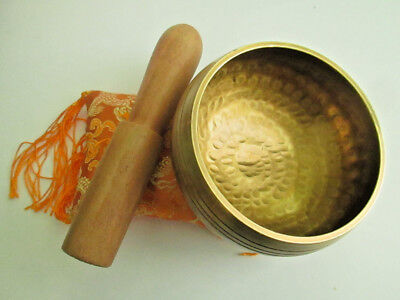 Hand Hammered Tibetan Singing Bowl for Meditation and Healing from Nepal