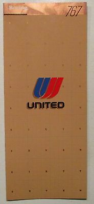 United Airlines 1983 Brochure   -    767