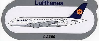 Airbus A380 Lufthansa Airline Sticker ~Extremely Rare~