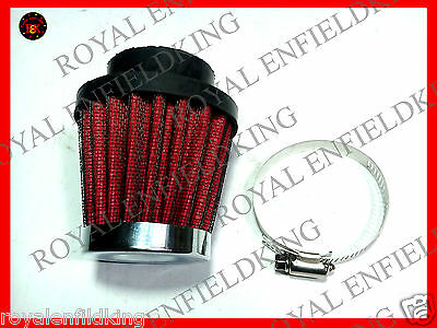 2 X Brand New Royal Enfield 350cc/500cc Cone Air Filter  RED  BEST QUALITY