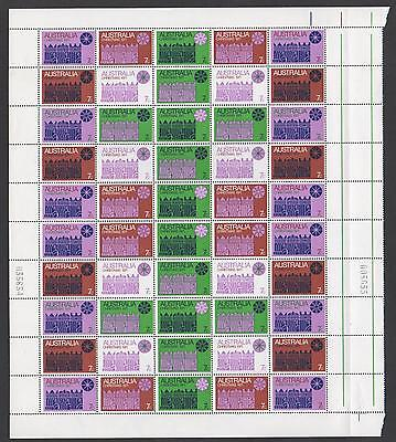 1971 Christmas Half Sheet Block of 50 x 7c Stamps - Australia MINT MNH - PERFECT