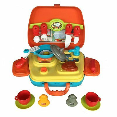 15 Pieces Pretend Play Kitchen Ware Set Cooking Kits Toy Cooking Playset 3+