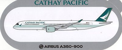 Airbus A350-900 Cathay Pacific Airways Limited Ed. Airline Sticker ~Highly Rare~