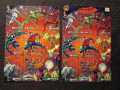 1994 Marvel SPIDER-MAN ENEMIES Promo Cards Uncut 9 VF- LOT of 2