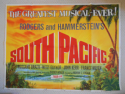 South Pacific, Original UK Quad Film Poster, Tom Chantrell art, '58 (f/g)