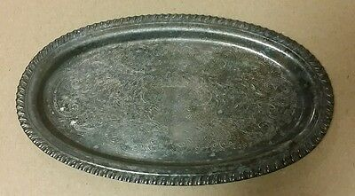 silver plate tray patina and tarnished