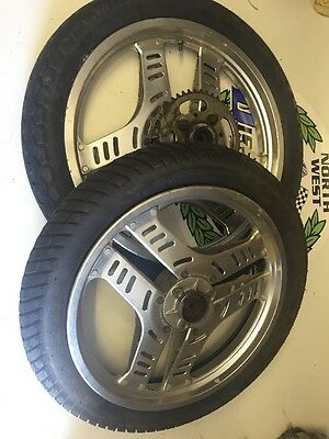 Honda Cb 125 Superdream  Front & Rear Wheels And Good Tyres