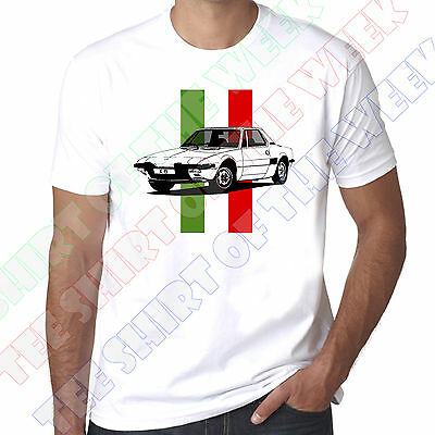 Personalised Number Plate Fiat X1/9 X19 Bertone mens 100% cotton T-shirt