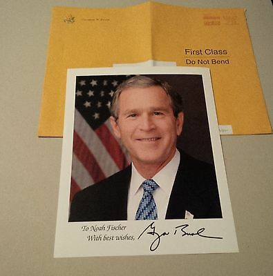 GEORGE W. BUSH 2001-09 43. Präsident der USA signed 20x25 Photo Auto-Pen (Druck)