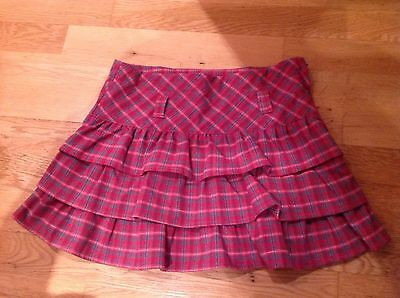❤️ GIRLS Skirt PINK CHECK Tights WAIST Age 7 PUMPKIN PATCH Frill Xmas Party