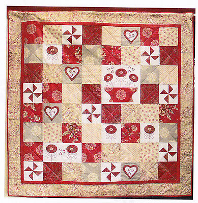 Provence - applique, stitchery & pieced quilt PATTERN - Gail Pan