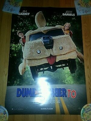 DUMB AND DUMBER TO 27x40 ORIGINAL D/S 1SH  MOVIE POSTER CARREY DANIELS COMEDY