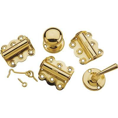 5 Pk Die Cast Brass Screen Storm Door Hinge Pull Latch Build Rebuild Kit N100018
