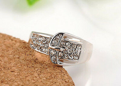 Horse & Western Ladies Jewellery Jewelry Buckle Ring Silver 8/p