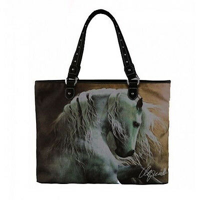Horse & Western Ladies Womens Montana West Laurie Prindle Horse Art Handbag Tote