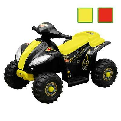 Black and Yellow/Red Mini Kids Quad Bike 4 Wheel Ride On Electric Motorcycle Car