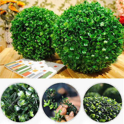 1Pc Artificial Plastic Green Grass Ball Plants Home Hanging Decoration DIY Craft