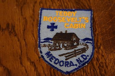 Teddy Roosevelt's Cabin Medora North Dakota Travel Souvenir Patch