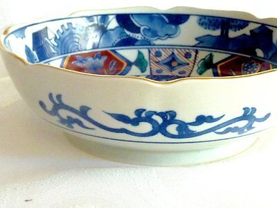 Collectable Hand Crafted & Decorated Antique Imari Arita Bowl Signed C 1900's?
