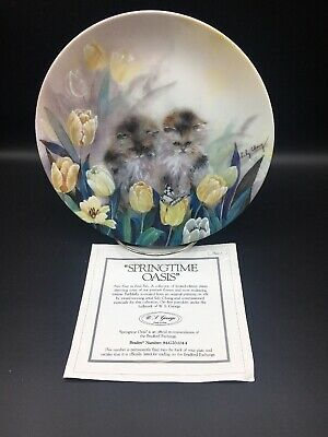 Petal Pals - Springtime Oasis, W. L. George 8 Inch Collector Plate