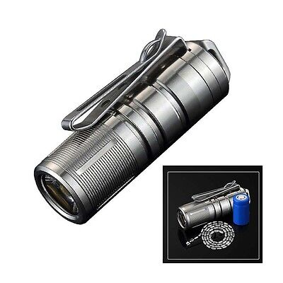 JetBeam Mini-1 Titanium 130LM Keychain USB Rechargeable Flashlight With Battery