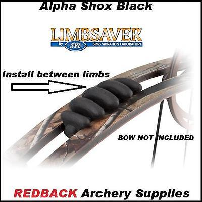 Alpha Shox BLACK Limb Dampeners 2 pack for compouind bow archery hunting