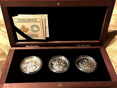 Silver Ultra-High Relief 3-Coin set– Sculptural Art of Parliament– Mintage: 4000