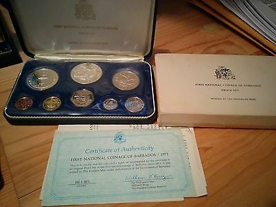 1973 First National coinage of Barbados - Proof Set