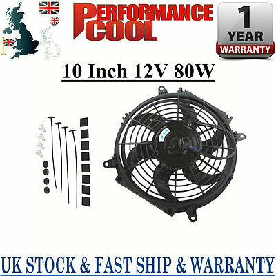 """10"""" inch 12V Radiator Engine Cooling thermo Fan + free Mounting kit"""