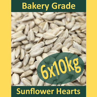 6x10kg (60kg) Sunflower Hearts Wild Bird Food PREMIUM BAKERY GRADE Dehulled