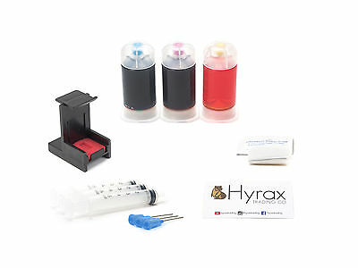 InkPro Tri-Color Ink Cartridge Refill Box Kit for HP 62/63/XL