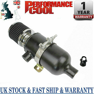 750ml Stealth Black Oil Catch Can Tank with Breather & Drain Tap NPT