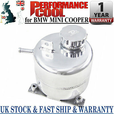 Alloy Radiator Coolant Expansion Tank For 02-06 Bmw Mini Cooper S/ 05-08 R52