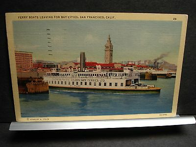 Ferry EL PASO SOUTHERN PACIFIC GOLDEN GATE FERRIES Naval Cover 1940 CALIF