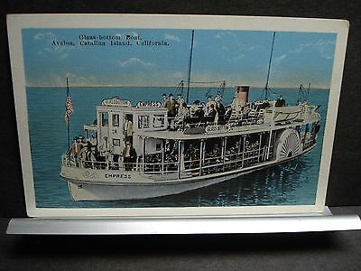 Glass-Bottomed boat EMPRESS AVALON, CATALINA Island Naval Cover unused post card