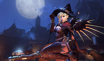 F913 Free Mat Bag Overwatch Halloween Mercy Large Game Mouse Pad CCG Playmat