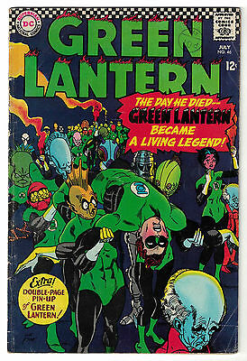 DC Comics GREEN LANTERN Issue 46 The Day He Died ... A Living Legend VG