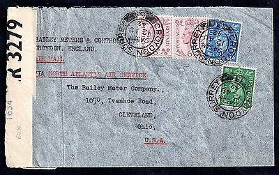 GB 1942 KGVI censored postal history cover (torn) WS1680