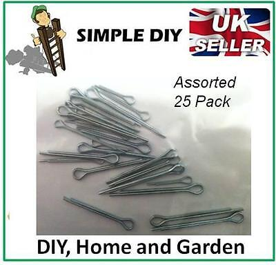 Split Pin Cotter Pin Assortment Pack of Fixing Spring Pin Large Small Set 25Pk