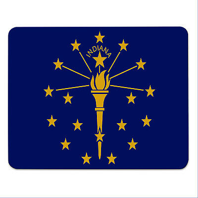 Mouse Pad - INDIANA FLAG - USA - State of Indiana- mousemat - mousepad