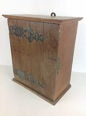Rustic Oak Wood Wall Cabinet Cupboard Antique Old Vintage
