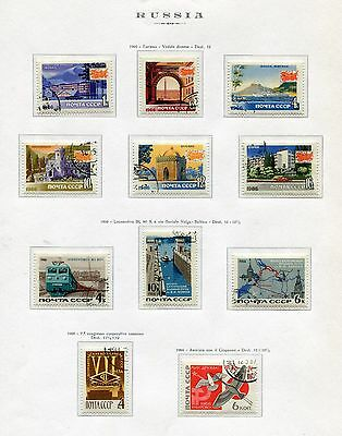 RUSSIA 1966 stamps used - lot of 57 different stamps (492-e82bis)
