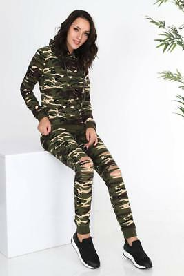 New Womens Ladies Loungewear Set Sweatshirt Joggers Fine Knit RipTracksuit Pants