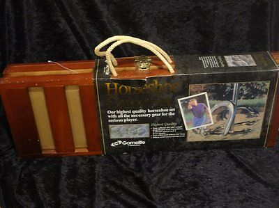 New & Sealed Sportcraft Gamelife High Quality Horseshoe Game Set & Carrying Case