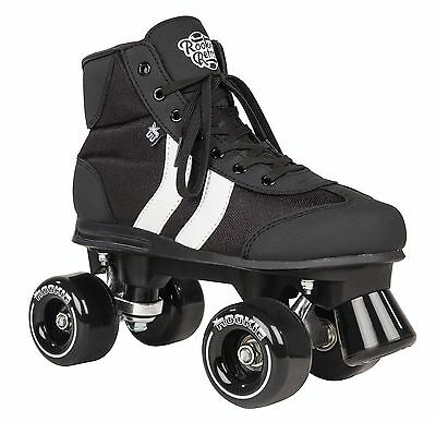 Black Rookie Retro Quad Roller Skates